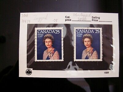 CANADA - #704i  25 Cent QE II Silver Jubilee UNTAGGED used and normal $20.00 Cat