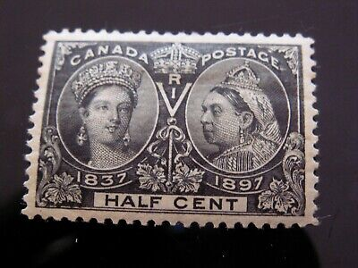 CANADA - #50  1/2 cent JUBILEE MINT HINGED F-VF, PERFECT CENTERING AND COLOR