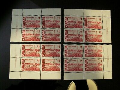 CANADA - #465B $1 OILFIELD matched set of used PB's w' in period CDS cancels