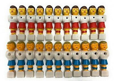 "22 Red/Blue Old Style Foosball Men-5/8"" Rod-11 Red/11 Blue Tournament Soccer Men"