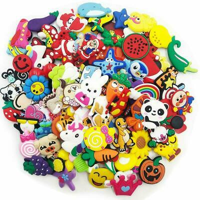 100Pcs/Lot Various Styles Random Shoe Charms For Jibbitz Croc Shoes & Bracelet