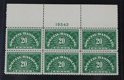 CKStamps: US Stamps Collection Scott#QE3 20c Block Mint NH OG Tiny Gum Skip
