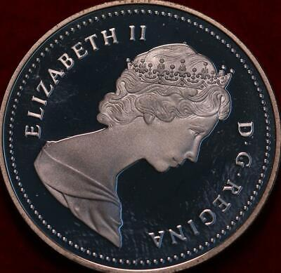 Uncirculated Proof 1987 Silver Canada $1 Foreign Coin