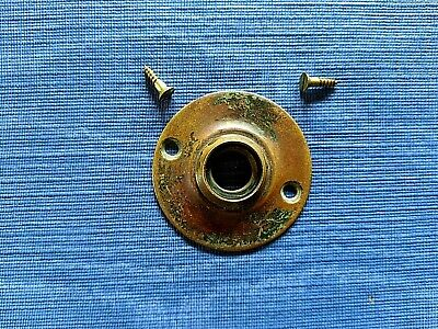 "Antique Solid Brass 2"" Door Knob Escutcheon W/Brass Screws"