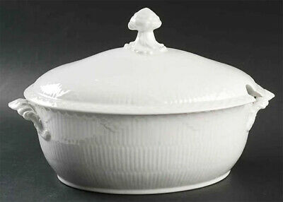 VERY LARGE! Royal Copenhagen WHITE HALF LACE TUREEN w/LID, DENMARK