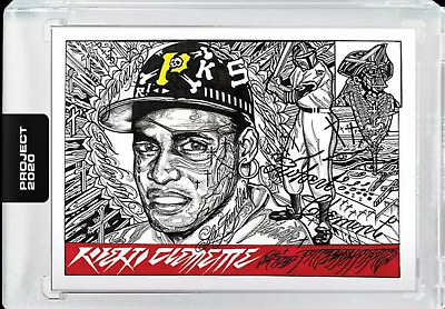 2020 Topps Project 2020 Roberto Clemente #68 1955 Topps Art Card Presell w/Box