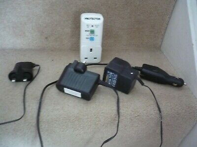 A Mixed Lot Of Chargers A Power Supply And A Residual Current Device A Great Lot