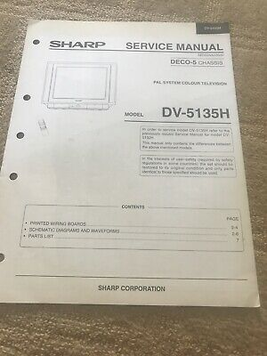 Sharp DV-5135H service manual For Television