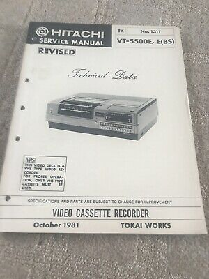 hitachi revised VT5500E service manual For VCR