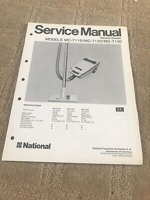 National MC-7110/MC-7120 /MC-7130 service manual
