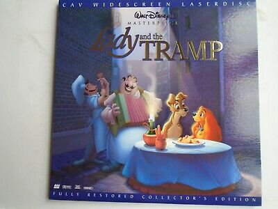 THE LADY AND THE TRAMP LASERDISC CAV WS 2 discs collectors edition NTSC Disney