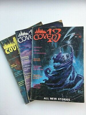 Coven 13 - 3 issues - US witchcraft, horror, supernatural digest - 'I, Vampire'