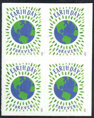 SC#5459 - (Forever) Earth Day Booklet Block of 4 MNH #1 w/USPS Logo on Back