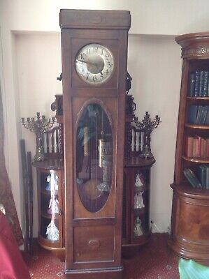 Beautiful Art Deco grandfather clock - weight driven - Good Working Order.