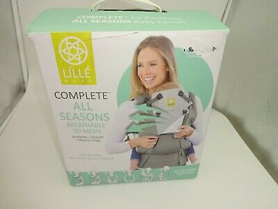 Lille Baby Complete All Seasons Breathable 3D Mesh Baby Carrier Gray New OpenBox