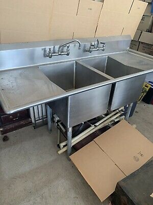 Stainless Double Sink 74x30