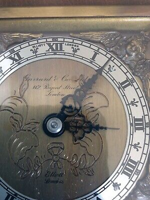 Rare Vintage Garrard & Co~London Elliott Mahogany Mantle~Carriage Clock