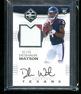 2017 Limited #114 DeShaun Watson Auto Rc - RPA Patch Jersey Autograph Rookie /75