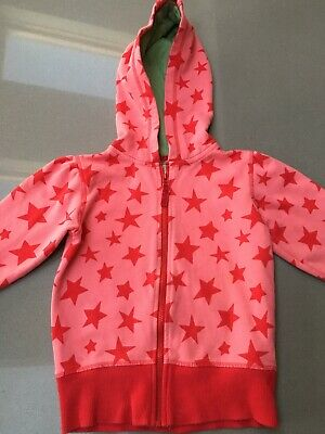 Age 4-5 Gorgeous Marks & Spencers Girl's Red Star Hoodie Excellent Condition