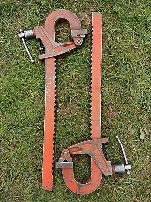 Vintage  Large  Pair Of  Carver Clamps T290 T285