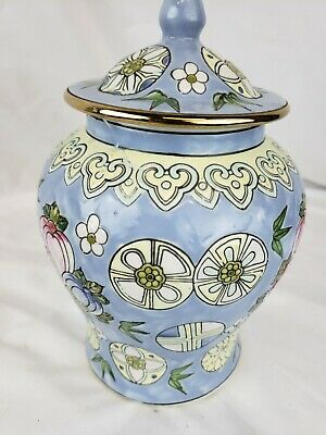 Excellent antique chinese vase, hand painted, marked, old repairs