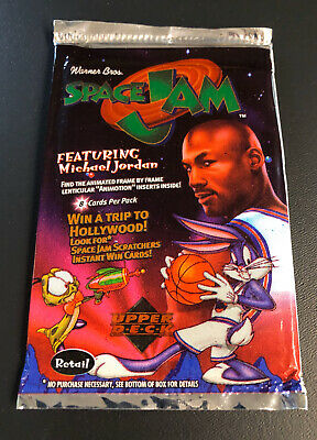 SEALED 1996 Space Jam Upper Deck 8 Card Pack Michael Jordan RARE VINTAGE Cards