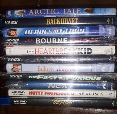 Lot Of 11 Hd-Dvds (9 New)