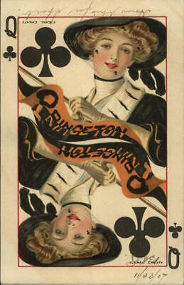 College Girl 1908 F. Earl Christy Rare: Princeton Queen of Spades College Queens
