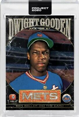 2020 Topps Project 2020 Dwight Gooden #86 1985 Topps Art Card Presell w/ Box