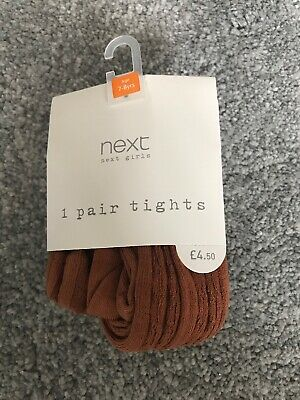 NEW NEXT 1 Pair Girls Tights 7-8 Yrs BNIP Girls Clothing Party