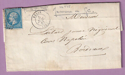 N°22 Pc Du Gc 422 Belin Gironde Bordeaux Lettre Cover