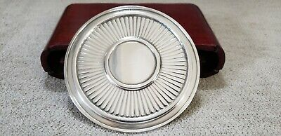 "GEORGE JENSEN 3 3/4"" STERLING COASTER RIBBED  1.86 ozt. NO RES c.1910-1925"