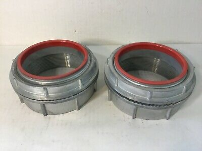 "Crouse Hinds Cooper 4"" Myers Hub ST-10 Basic Hub Lot of 2"