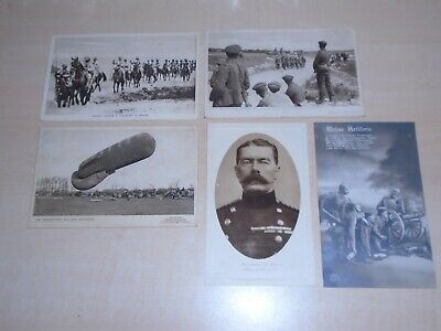 c1917 Five Wartme Postcards Of Daily Mail Battle Pictures And Kitchener Etc