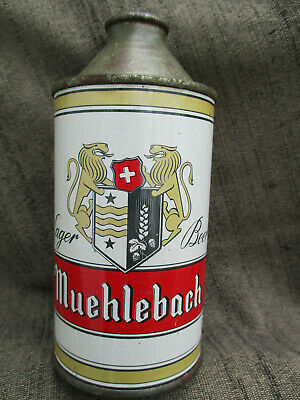 Old Vintage Muehlebach Cone Top Beer Can Kansas City Mo. Excellent Condition 8+