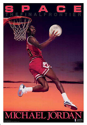 "1990 Michael Jordan Poster ""Space"" Costacos Chicago Bulls MINT Factory Sealed"