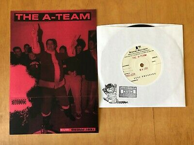 """THE A-TEAM - Negative Space 7"""" TEST PRESS 10 made down but not out spiral heads"""