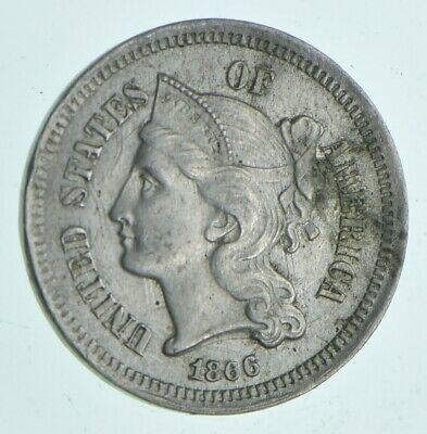 1866 Nickel Three-Cent Piece - Charles Coin Collection *360