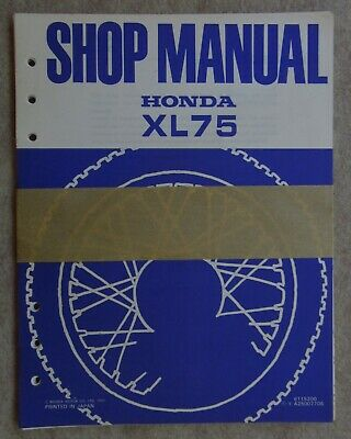 New / Unused HONDA 1977 XL75 Original Factory SHOP SERVICE REPAIR MANUAL