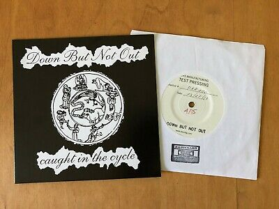 """DOWN BUT NOT OUT - Caught In The Cycle 7"""" TEST PRESS 15 MADE cro-mags hardcore"""