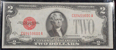 """1928-D $2 """"RED Seal""""  United States Note - AU/UNC Condition"""