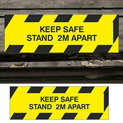 Social Distancing Zone Sign. Keep Safe Stand 2m Apart Self Sticker Adhesive E7F2