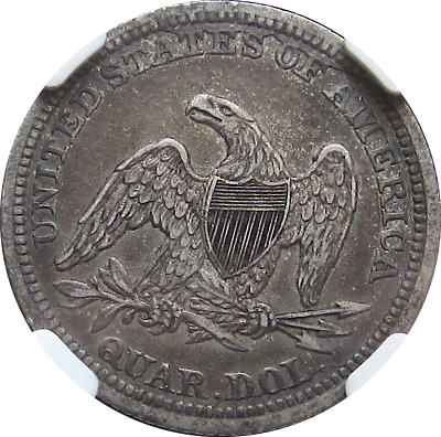 1844 Liberty Seated Quarter, Briggs 1-A Late Die State, Pleasing Patina NGC XF45