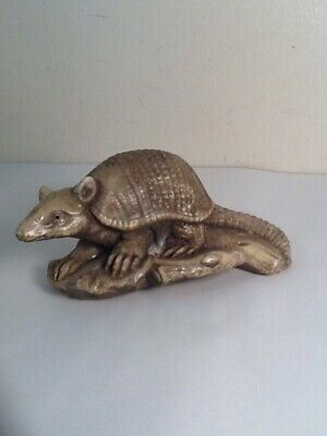 Vintage Armadillo Desk Top Paperweight Figurine