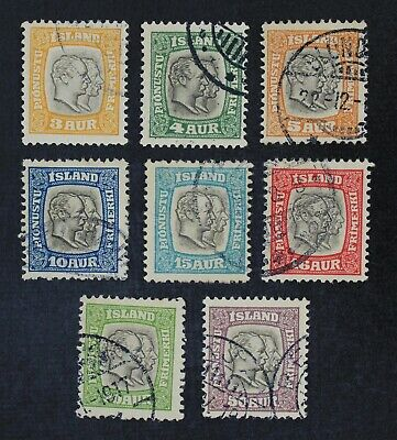 CKStamps: Iceland Stamps Collection Scott#O31-O38 Used