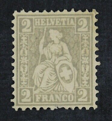 CKStamps: Switzerland Stamps Collection Scott#41 Unused NG Spot Thin