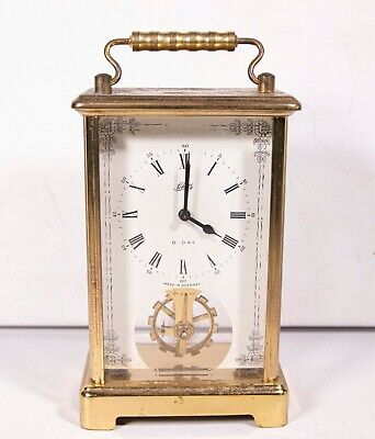 Small Vintage Metal Framed 8 Day Carriage Clock Schatz & Sohne Germany