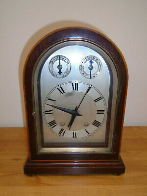 Antique Mantel Bracket Clock with Battery Movement