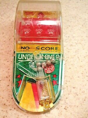 Vintage Mid Century Marx Toys Pin Ball Game – Tin & Plastic – Over N Under