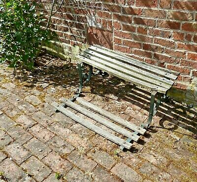 Antique vintage Victorian garden seat with footrest Very unusual. 40 inches wide